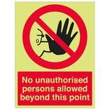 GITD No Unauthorised Persons - Portrait