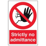 Strictly No Admittance - Portrait