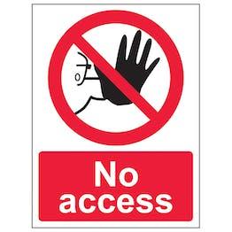 No Access - Polycarbonate
