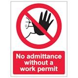 No Admittance Without Work Permit - Portrait