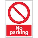 Eco-Friendly No Parking - Portrait