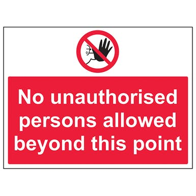 No Unauthorised Persons Allowed
