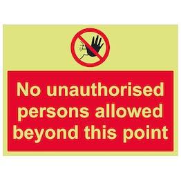 GITD No Unauthorised Persons Allowed