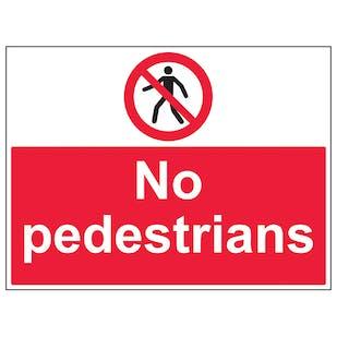 No Pedestrians - Large Landscape