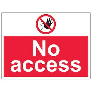 No Access - Large Landscape
