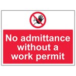 No Admittance Without Work Permit - Large Landscape