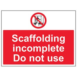 Scaffolding Incomplete Do Not Use - Large Landscape