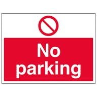No Parking - Large Landscape