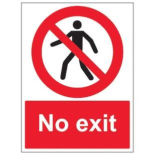 No Exit With Man - Portrait