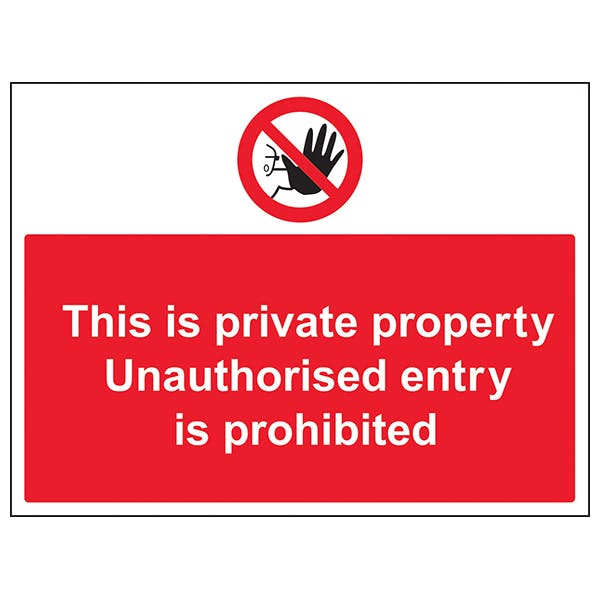Unauthorised Persons Prohibited