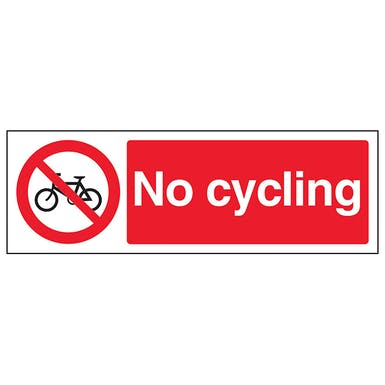 No Cycling - Landscape