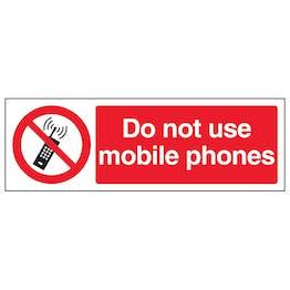 Do Not Use Mobile Phones - Landscape