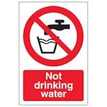 Eco-Friendly Not Drinking Water - Portrait