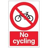 No Cycling - Portrait