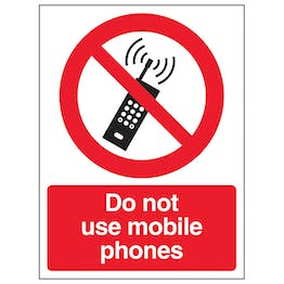 Do Not Use Mobile Phones - Polycarbonate