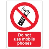 Do Not Use Mobile Phones - Window Sticker