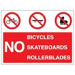 No Bicycles / Skateboards / Rollerblades