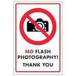 No Flash Photography! Thank You!