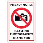 Privacy Notice Please No Photography! Thank You