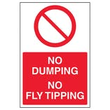 No Fly Tipping Or Dumping