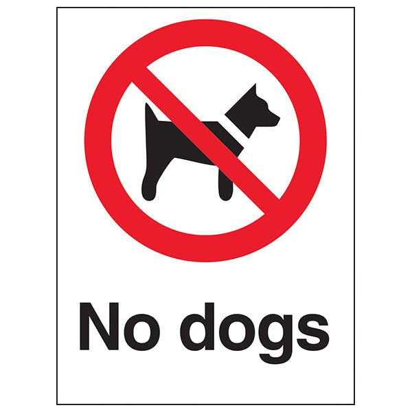 No Dogs - White Background