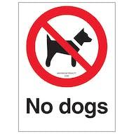 No Dogs - Maximum Penalty £500