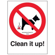 Clean It Up! - Maximum Penalty £500