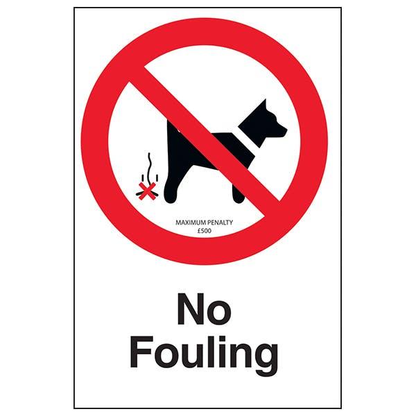 No Fouling - Maximum Penalty £500