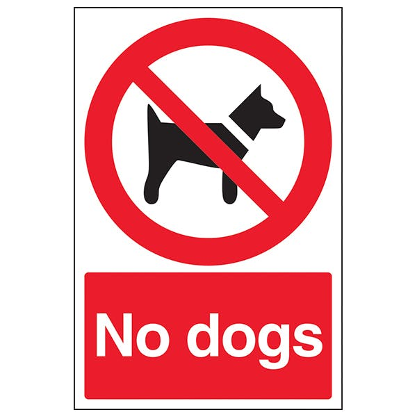 No Dogs - Red Background