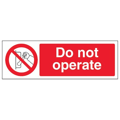Do Not Operate - Landscape