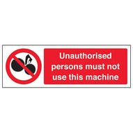Unauthorised Persons Not To Use - Landscape