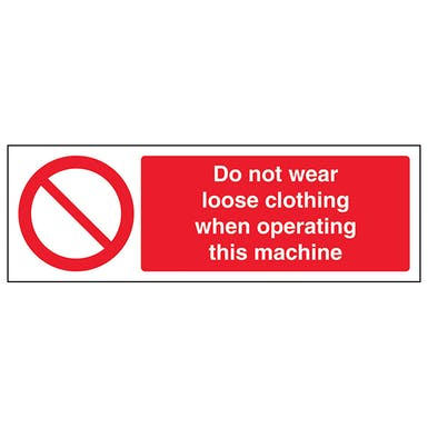 Do Not Wear Loose Clothing When Operating - Landscape