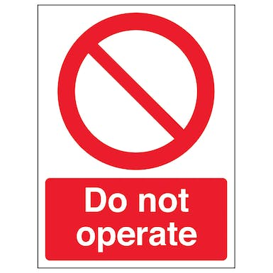 Do Not Operate - Portrait