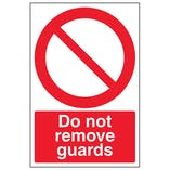 Do Not Remove Guards - Portrait