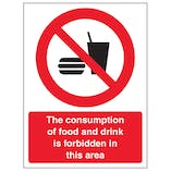 Consumption Of Food And Drink Forbidden - Portrait