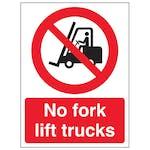 No Forklift Trucks - Portrait