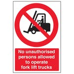 No Unauthorised Persons To Operate - Portrait