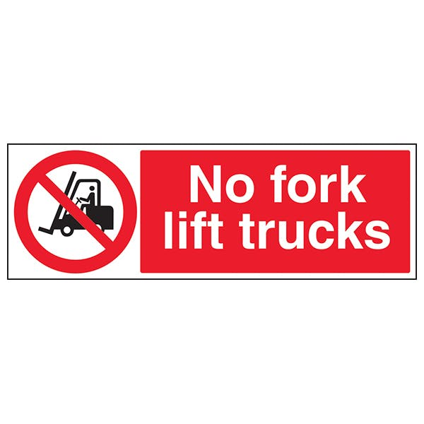 No Forklift Trucks - Landscape