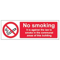 No Smoking In Communal Area - Landscape