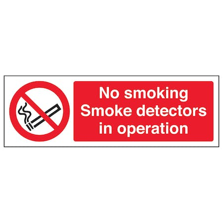 No Smoking Smoke Detectors In Operation