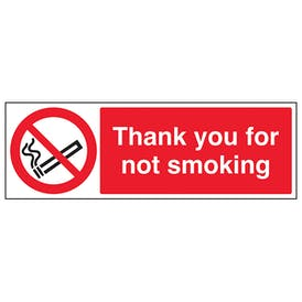 Thank You For Not Smoking - Landscape