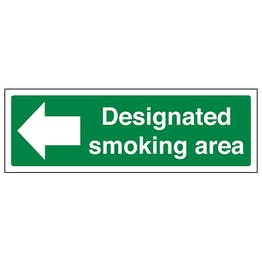 Designated Smoking Area Arrow Left - Landscape