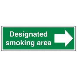 Designated Smoking Area Arrow Right - Landscape