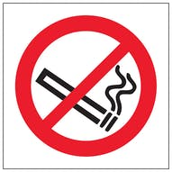 No Smoking Symbol - Window Sticker