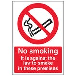 No Smoking It Is Against The Law - A4