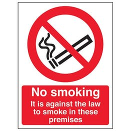 Eco-Friendly No Smoking In These Premises - Portrait