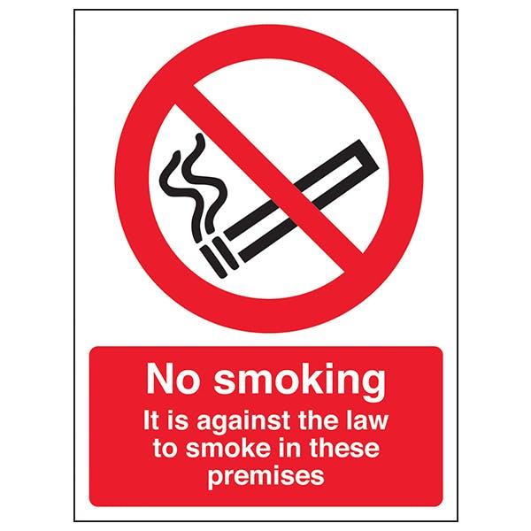 No Smoking In These Premises - Window Sticker