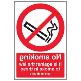 It Is Against The Law To Smoke In These Premises - Window Sticker