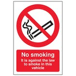 No Smoking - Vehicle Sticker