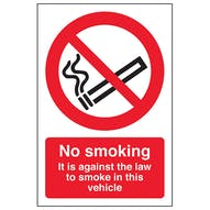 No Smoking - Vehicle Sticker